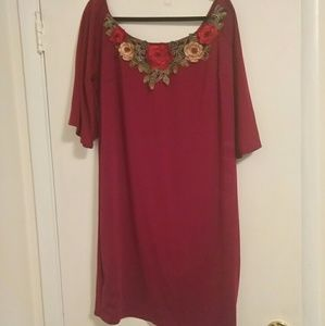 Dresses & Skirts - Off the shoulder bodycon embroidery dress